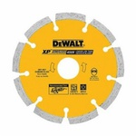 DeWALT® DW4713B Extended Performance Segmented Rim Diamond Saw Blade, 4-1/2 in Dia Blade, 7/8 in Arbor/Shank, Dry Cutting