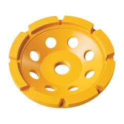 DeWALT® XP™ DW4770 Single Row Cup Grinding Wheel, 4 in Dia x 5/8 in THK, Diamond Matrix Abrasive
