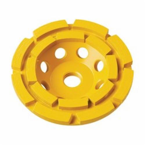 DeWALT® DW4775 Double Row Heavy Duty Cup Wheel, 7 in Dia x 1-1/2 in THK, Diamond Abrasive