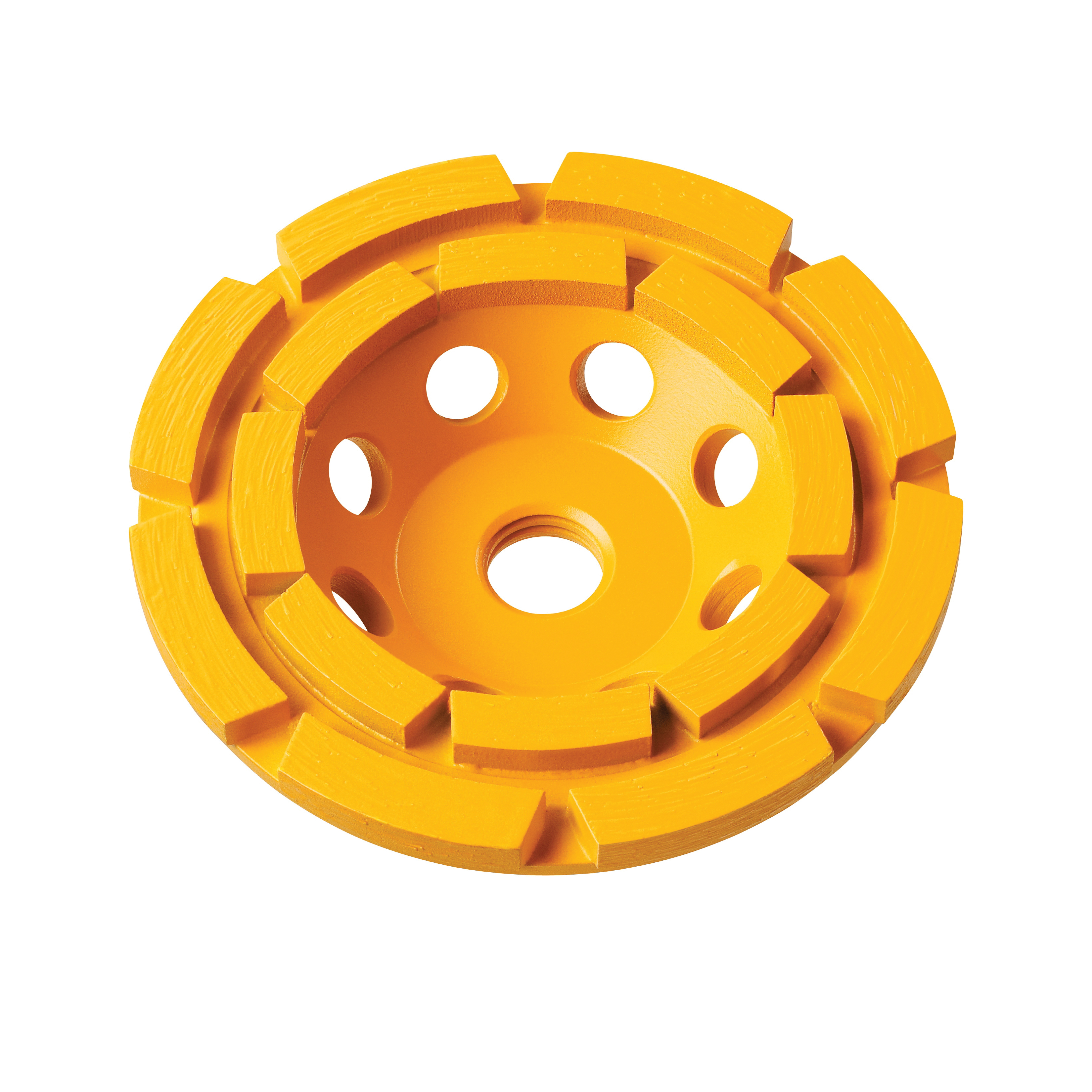 DeWALT® XP™ DW4777 Double Row General Purpose Cup Wheel, 5 in Dia x 1.1 in THK, Diamond Abrasive