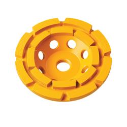 DeWALT® XP™ DW4777 Double Row General Purpose Cup Wheel, 5 in Dia x 1.1 in THK, Diamond Abrasive