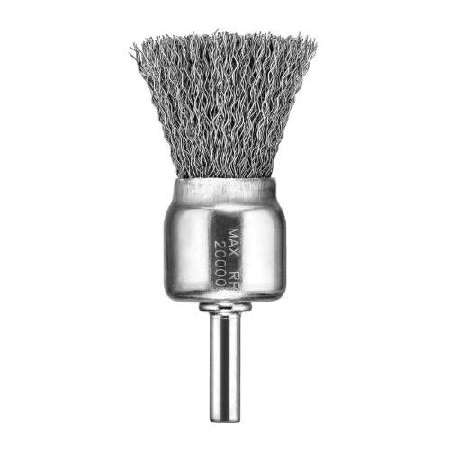 DeWALT® HP™ DW4901 End Brush, 1 in, Crimped, 0.012 in, Carbon Steel Fill, 1 in L Trim