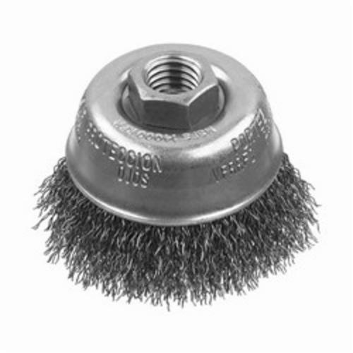 DeWALT® XP™ DW49150 Cup Brush, 3 in Dia Brush, 5/8-11 Arbor Hole, 0.014 in Dia Filament/Wire, Crimped, Carbon Steel Fill