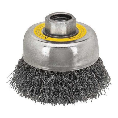 DeWALT® HP™ DW4922 Heavy Duty Cup Brush, 5 in Dia Brush, 5/8-11, 0.014 in, Crimped, Carbon Steel Fill