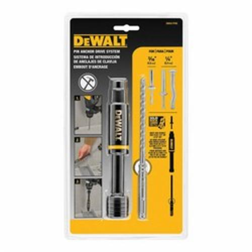 DeWALT® DW5517PAD Pin Anchor Drive Sleeve, 6 in L, 4 in L Shank, 1/4 in SDS Plus® Shank, For Use With DeWALT® 3/16 and 1/4 in SDS Plus® Bit