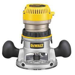 DeWALT® DW618 Fixed Base EVS Router With Soft Start, Toggle Switch, 1/4 in, 1/2 in in Chuck, 8000 to 24000 rpm Speed, 2-1/4 hp, 120 VAC