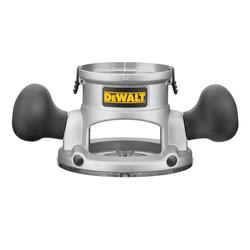 DeWALT® DW6184 Adjustable Heavy Duty Fixed Base, For Use With DW616 and DW618 Router, Die Cast Aluminum, Clear
