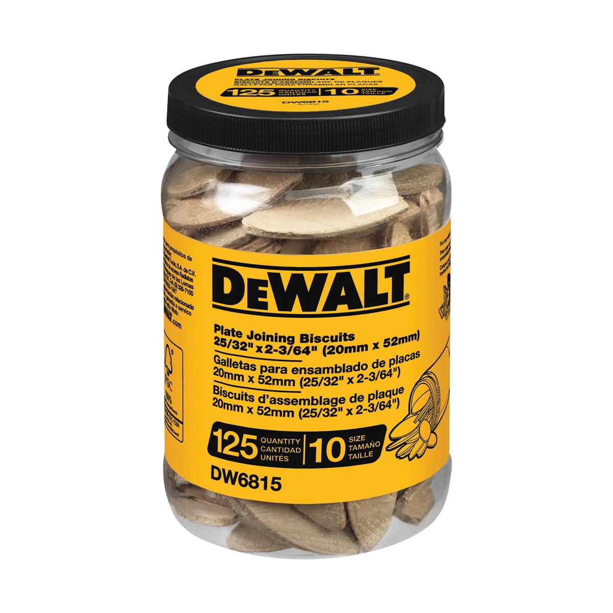 DeWALT® DW6815 Plate Joining Biscuit, Size #10