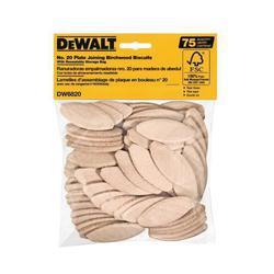 DeWALT® DW6820 Joining Biscuit, #20 Size, Birchwood