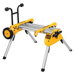 DeWALT® DW7440RS Portable Rolling Table Saw Stand, For Use With DW744X Heavy Duty Table Saw, Aluminum, Black/Yellow