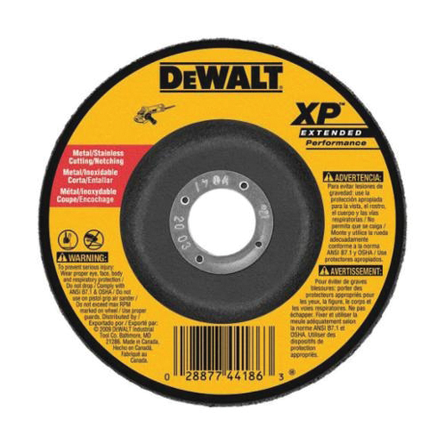Black+Decker® XP™ DW8805 Flat Small Diameter Depressed Center Wheel, 4-1/2 in Dia x 3/32 in THK, 24 Grit, Zirconia Alumina Abrasive