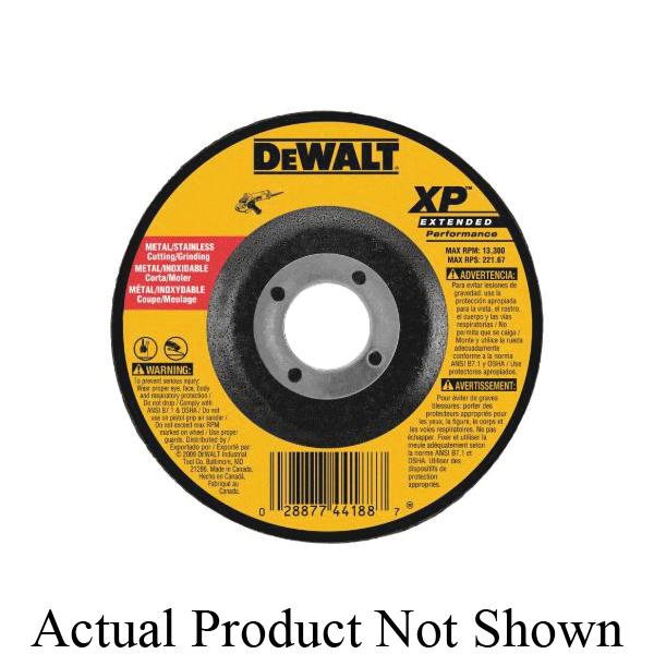 Black+Decker® XP™ DW8807 Flat Depressed Center Wheel, 4-1/2 in Dia x 1/8 in THK, 24 Grit, Zirconia Alumina Abrasive