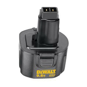 Black+Decker® DW9061 Extended Run-Time High Performance Cordless Battery Pack With DeWALT® 9.6 V Tools and Accessories, 1.7 Ah NiCd Battery, 9.6 VDC Charge, For Use With DeWALT® 9.6 V Tools and Accessories