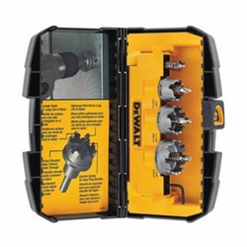DeWALT® DWACM1802 General Purpose Hole Saw Kit, 3 Pieces, Carbide Tip