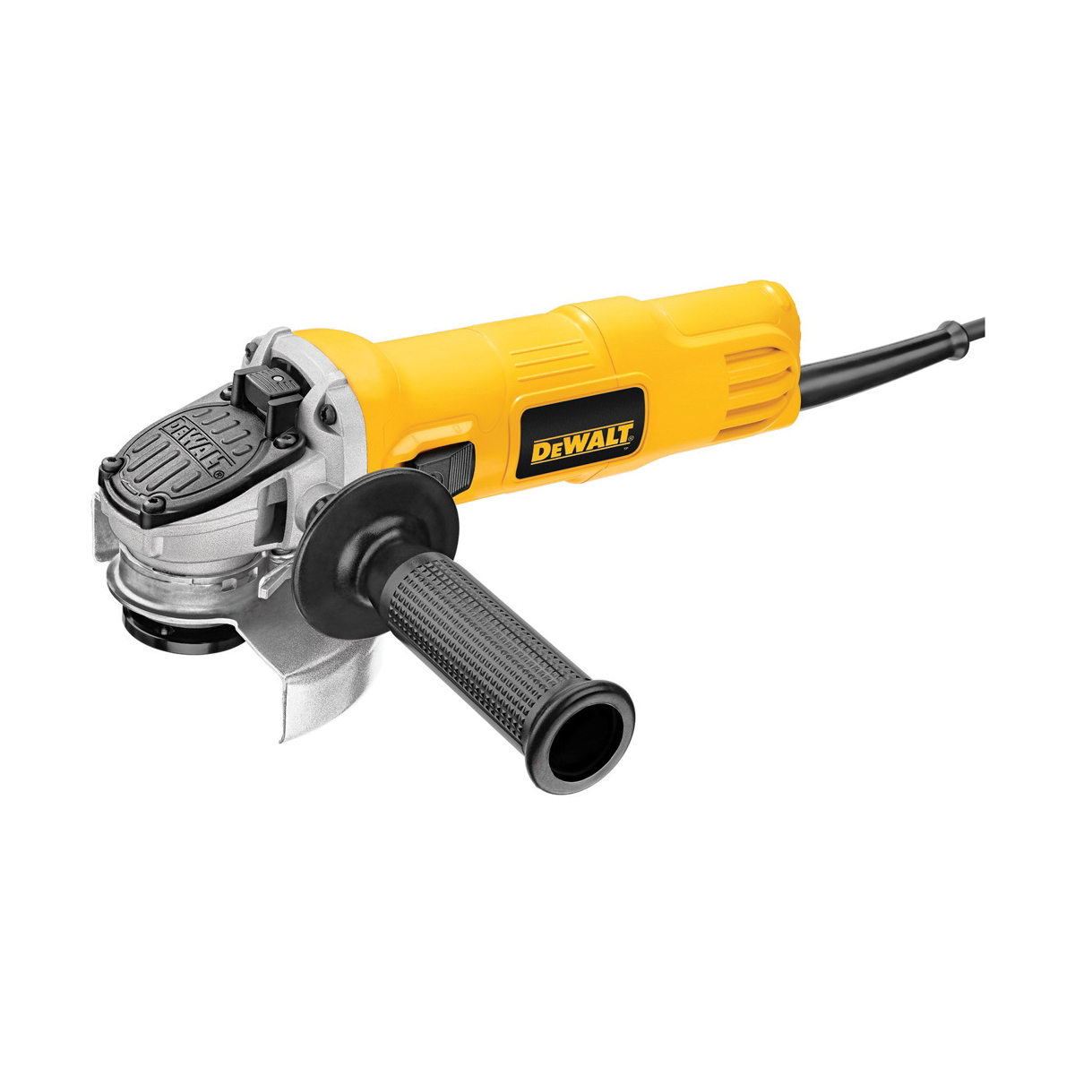 DeWALT® DWE4011 Small Angle Grinder, 4-1/2 in Dia Wheel, 5/8-11 Arbor/Shank, 120 VAC, For Wheel: Quick-Change™, Yellow, No, Slide Switch