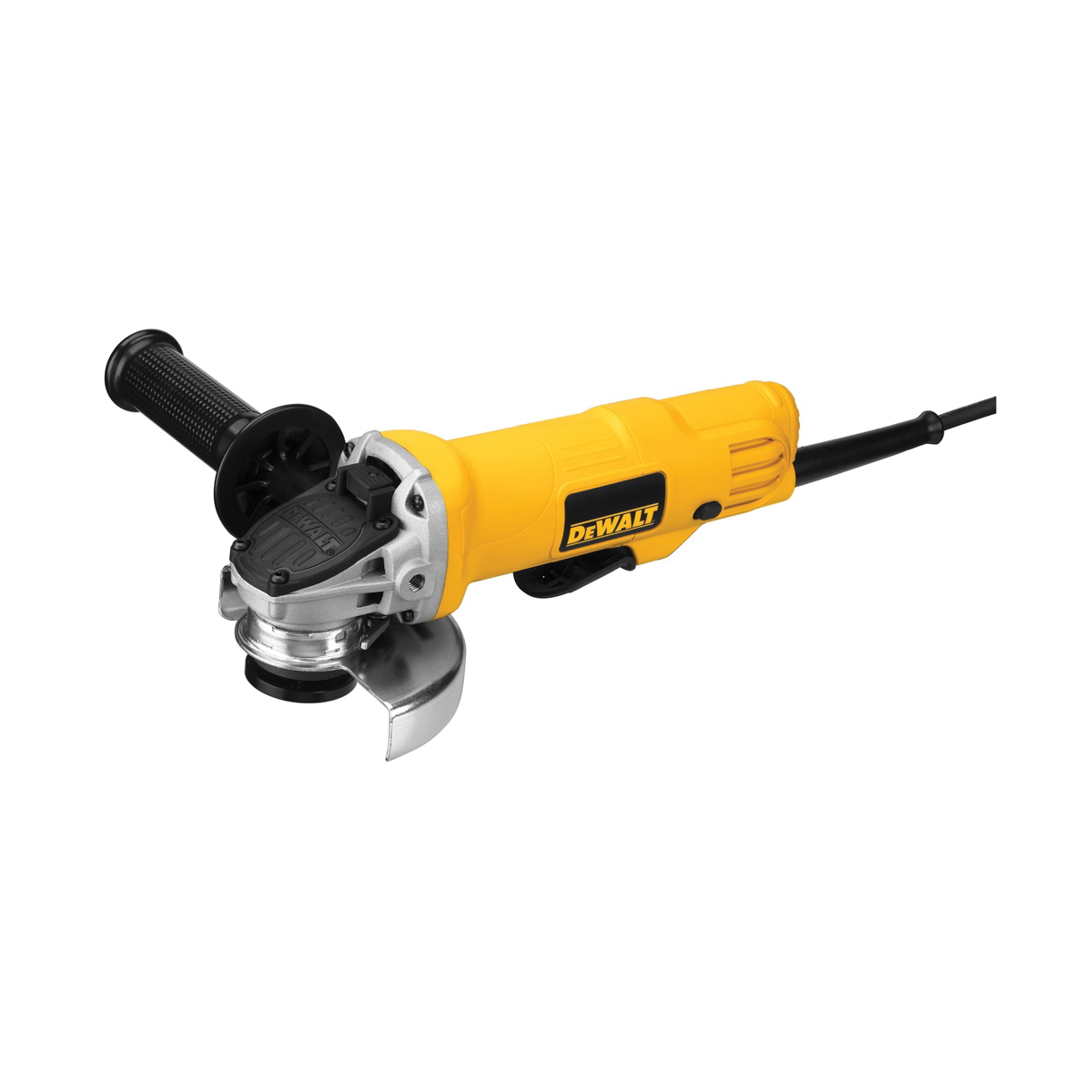 DeWALT® DWE4012 Small Angle Grinder, 4-1/2 in Dia Wheel, 5/8-11 Arbor/Shank, 120 VAC, For Wheel: Quick-Change™, Yellow, No, Lock-On Paddle Switch