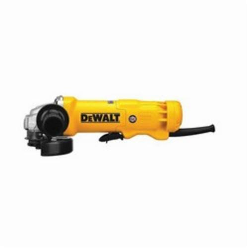 DeWALT® DWE402N Small Angle Grinder With No Lock-On, 4-1/2 in Dia Wheel, 5/8-11 Arbor/Shank, 120 VAC, For Wheel: Quick-Change™, Yellow, Yes Dust Management, Non-Locking Paddle Switch Switch, Tool Only