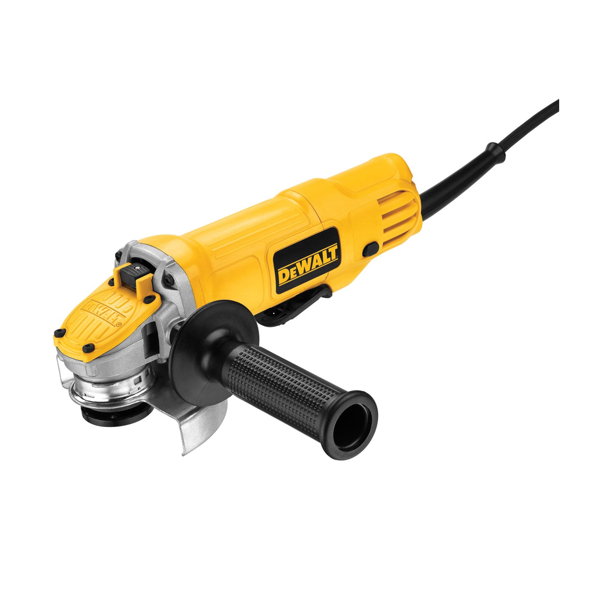DeWALT® DWE4120 Small Angle Grinder, 4-1/2 in Dia Wheel, 5/8-11 Arbor/Shank, 120 VAC, For Wheel: Quick-Change™, Yellow, No Dust Management, Lock-On Paddle Switch Switch, Tool Only