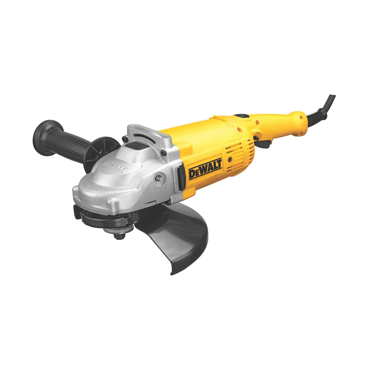DeWALT® DWE4519 Large Angle Grinder, 9 in Dia Wheel, 5/8-11 Arbor/Shank, 120 VAC, Yellow, Lock-On/Off Trigger Switch