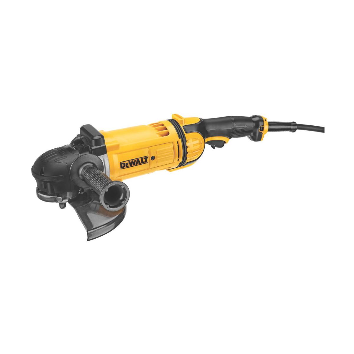 DeWALT® DWE4559CN Large Angle Grinder, 9 in Dia Wheel, 5/8-11 Arbor/Shank, 120 VAC, Yellow, Yes, Lock-Off Trigger Switch Switch