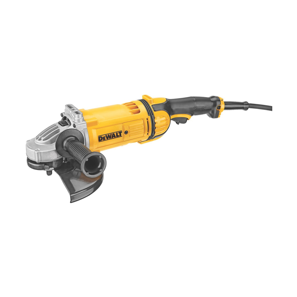 DeWALT® DWE4559N Large Angle Grinder, 9 in Dia Wheel, 5/8-11 Arbor/Shank, 120 VAC, Yellow, Yes Dust Management, Lock-Off Trigger Switch Switch, Tool Only