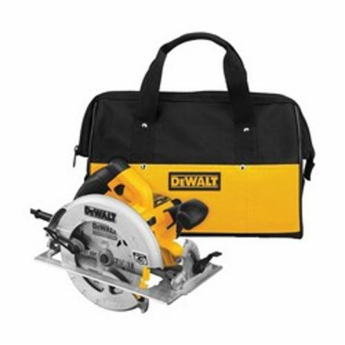 DeWALT® DWE575SB Lightweight Next Generation Circular Saw Kit, 7-1/4 in Dia Blade, 5/8 in Arbor/Shank, 1-7/8 in at 45 deg, 2-9/16 in 90 deg Cutting, Right Blade Side