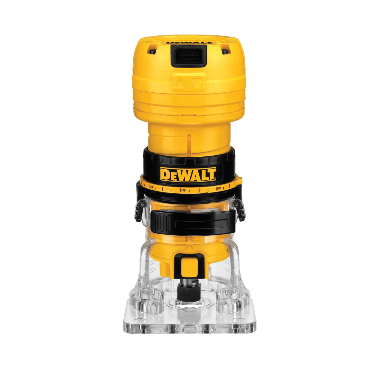 DeWALT® DWE6000 Laminate Trimmer, Toggle Switch, 1/4 in Chuck, 31000 rpm Speed, 7/8 hp, 120 VAC