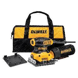 DeWALT® DWE6411K Single Speed Orbital Sander Kit, 1/4 in, 14000 opm Speed
