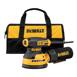 DeWALT® DWE6423K Random Orbit Sander Kit, 140 mm H, 8000 to 12000 opm Speed