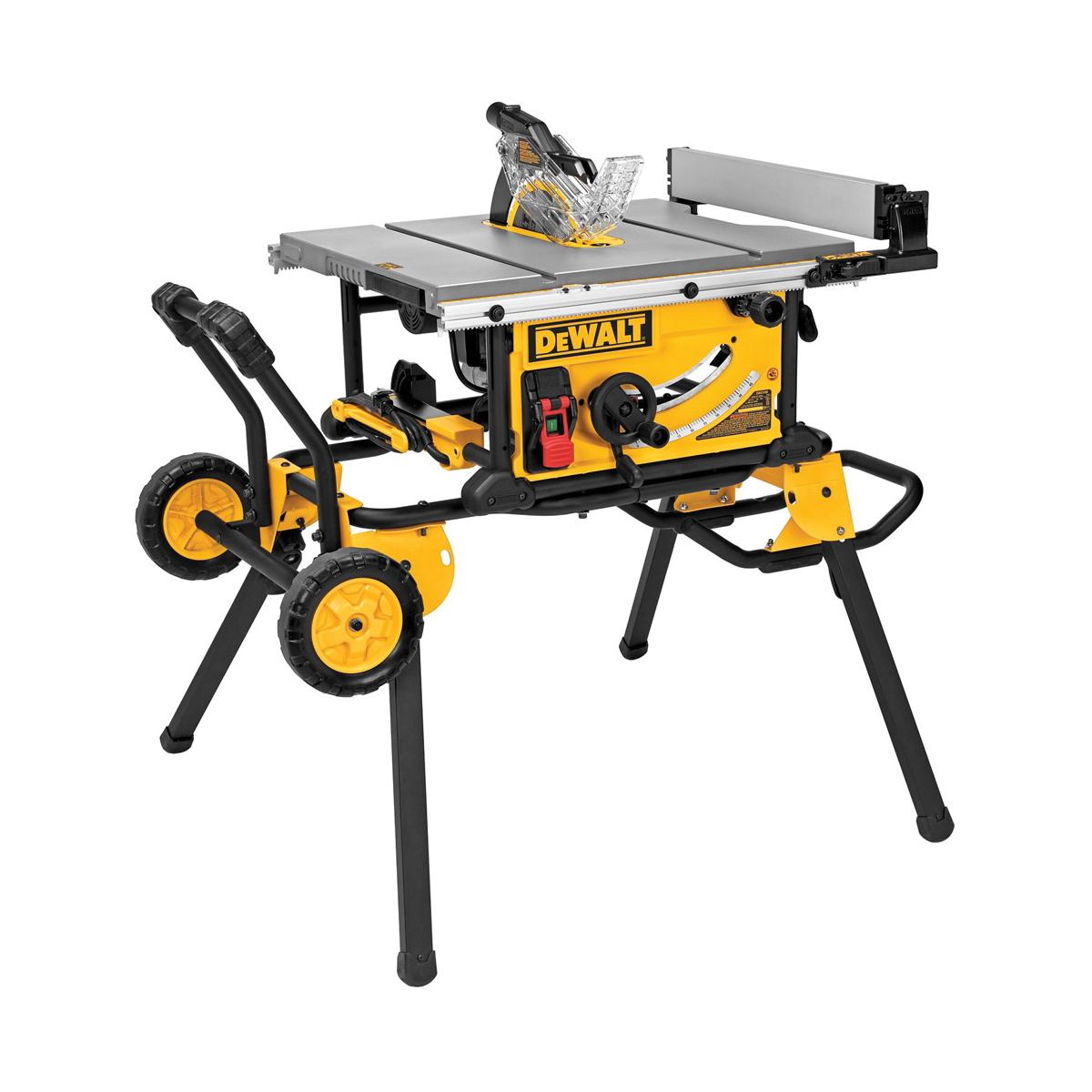 DeWALT® DWE7491RS Jobsite Table Saw, 10 in Dia Blade, 5/8 in Arbor/Shank, 3-1/8 in 90 deg Capacity, 2 hp, Tool Only