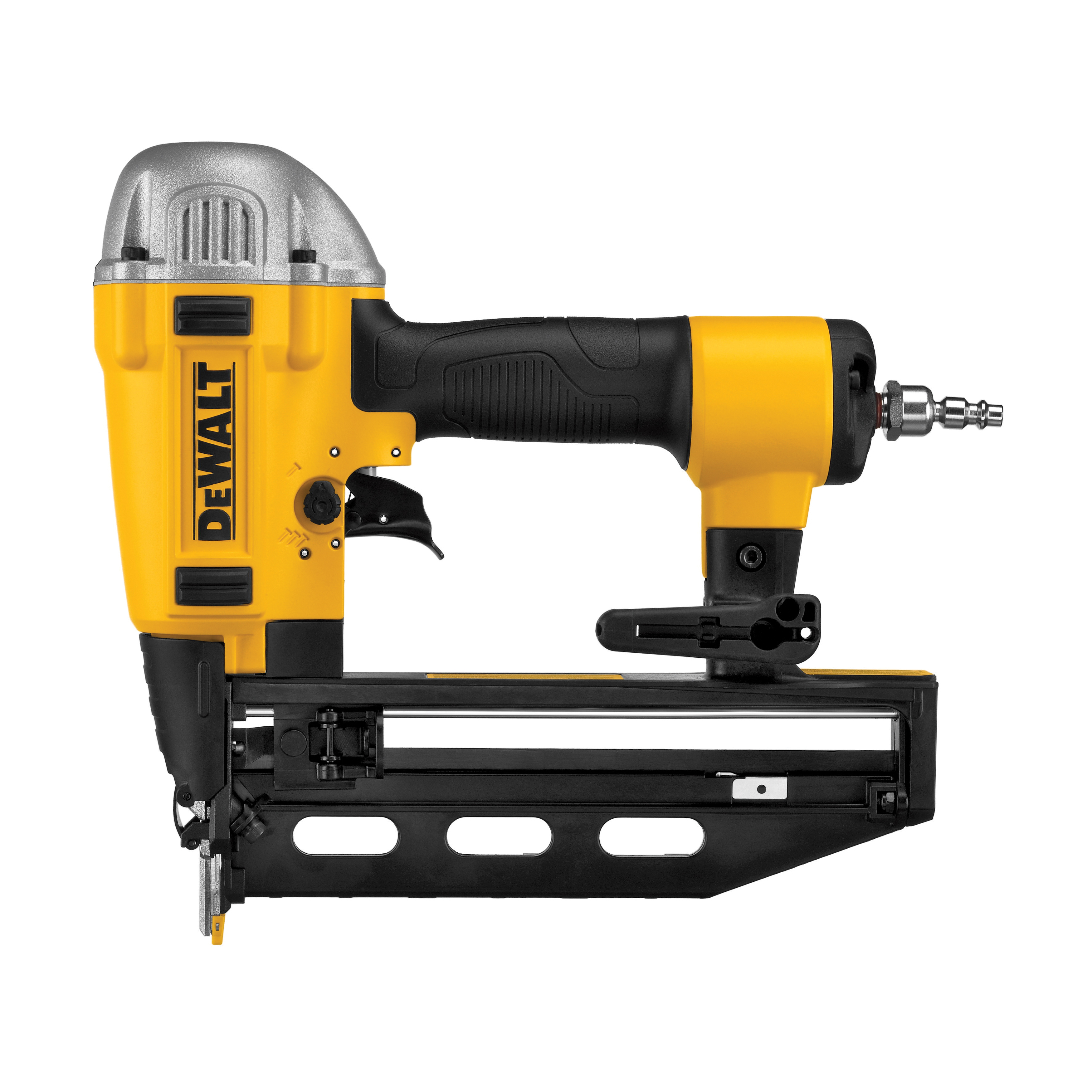 DeWALT® Precision Point™ DWFP71917 Precision Point Finish Nailer Kit, 1-1/4 to 2-1/2 in Fastener, Glue Collation, 100 Nails Magazine, 70 to 120 psi