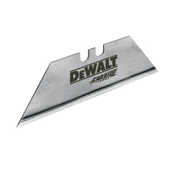 DeWALT® DWHT11131L General Purpose Utility Blade With Dispenser, Carbide Steel, Standard Blade, Sharp Point/Straight Edge, 2-1/2 in L x 3/4 in W Blade, Compatible With: 19T226 Utility Knife, 0.024 in THK