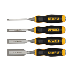 DeWALT® DWHT16063 Short Blade Wood Chisel Set, 4 1/4 to 1 in Chisel, 4 Pieces