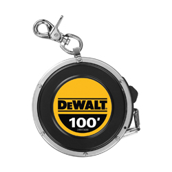 DeWALT® DWHT34201 Long Tape Rule, 100 ft L, Steel, Imperial, 1/16ths