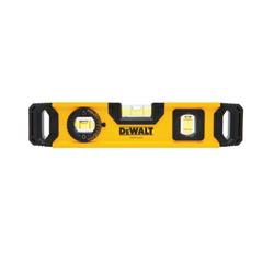 DeWALT® DWHT43003 Magnetic Torpedo Level, 9.7 in L, 3 Vials, (1) Level/(1) Plumb/(1) 45 deg Vial Position, 0.0005 in, Aluminum