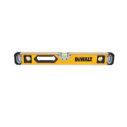 DeWALT® DWHT43025 Magnetic Box Beam Level, 24 in L, 3 Vials, (1) Level, (2) Plumb Vial Position, 0.0005 in, Aluminum