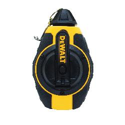 DeWALT® DWHT47372 Single Chalk Line Reel, 100 ft L Polyester Line, Sliding Door, Folding Crank Handle