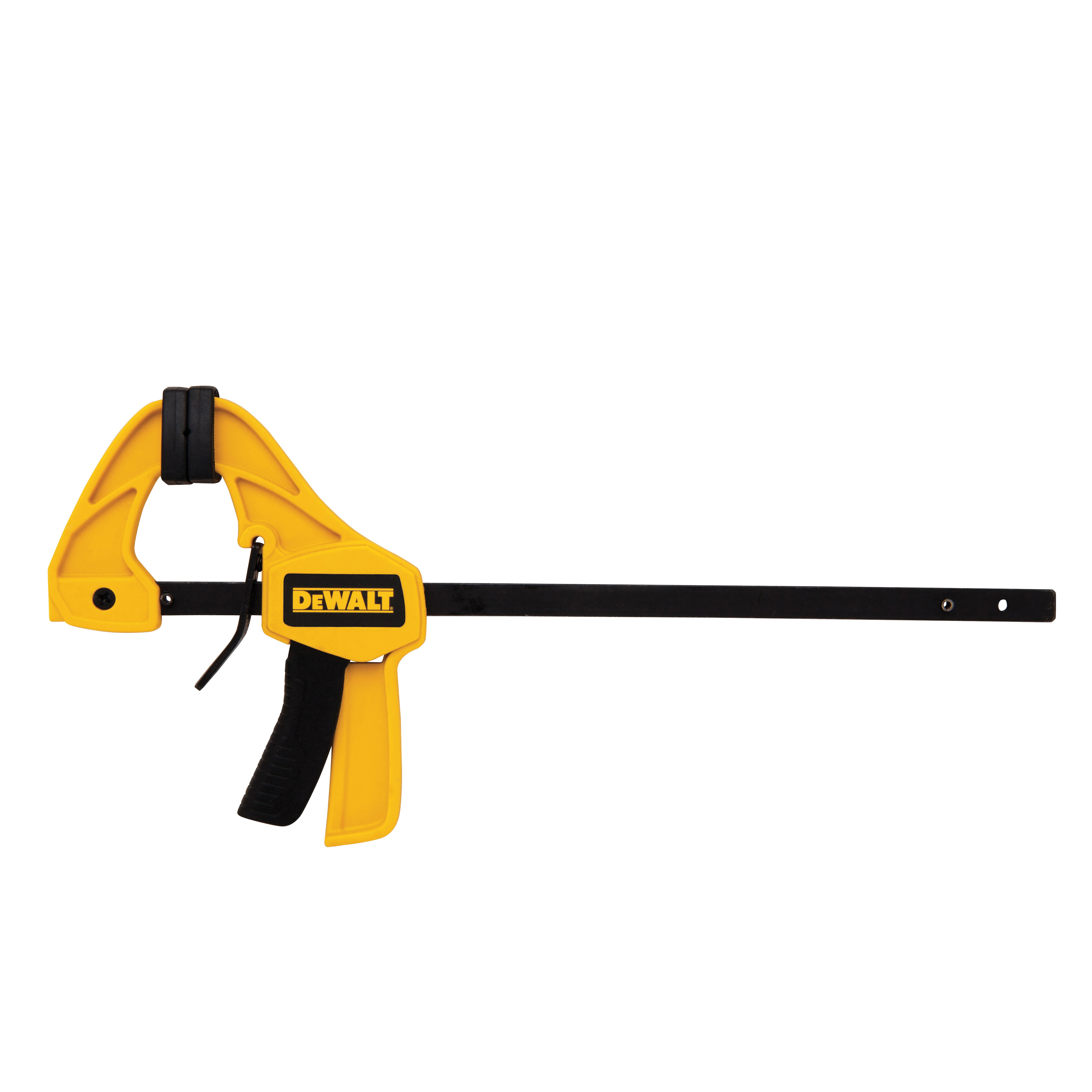 DeWALT® DWHT83148 1-Handed Small Trigger Clamp, 4-1/2 in Clamping, 1-1/2 in D Throat, Steel Bar