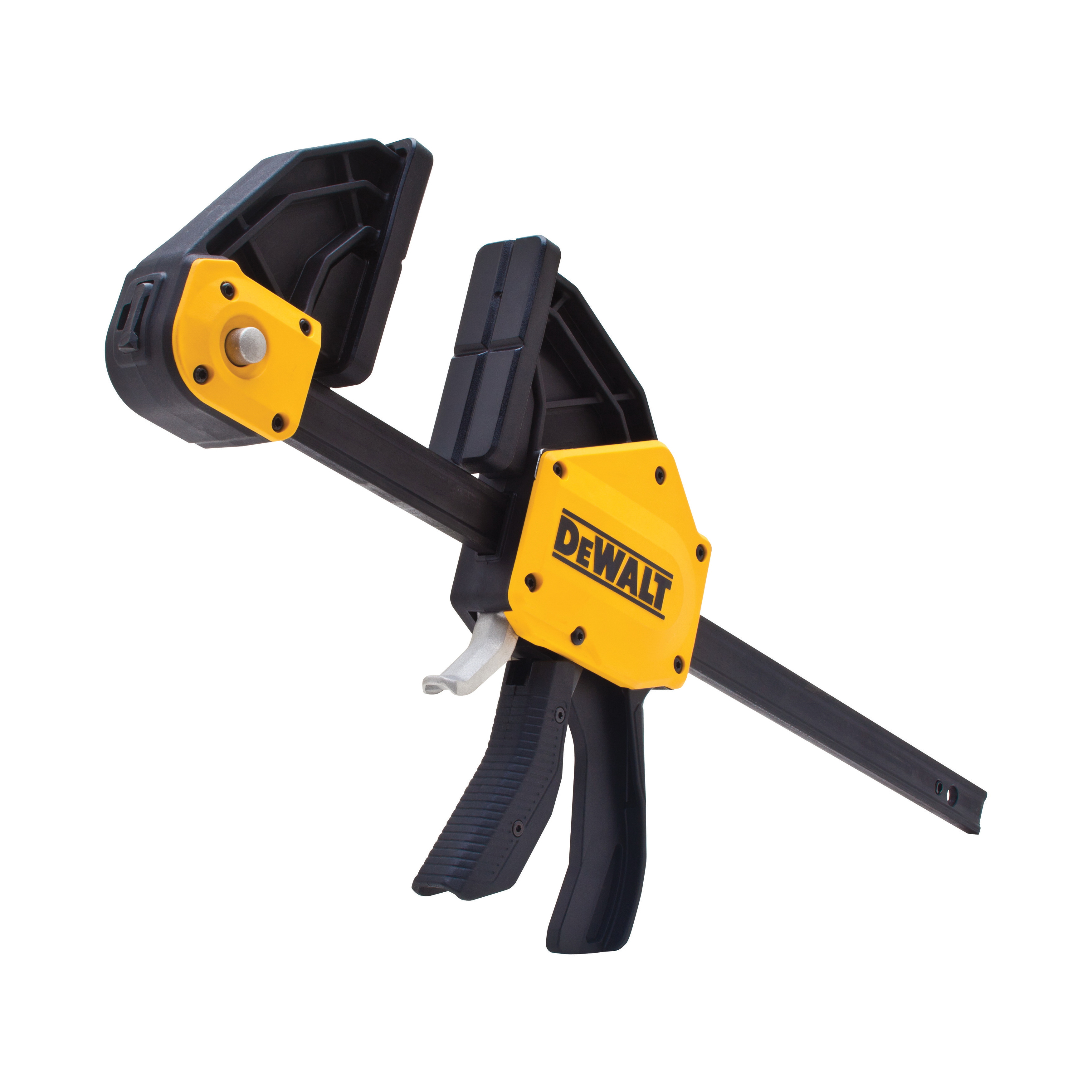 DeWALT® DWHT83185 1-Handed Extra Large Trigger Clamp, 12 in Clamping, 3-3/4 in D Throat, Steel Bar