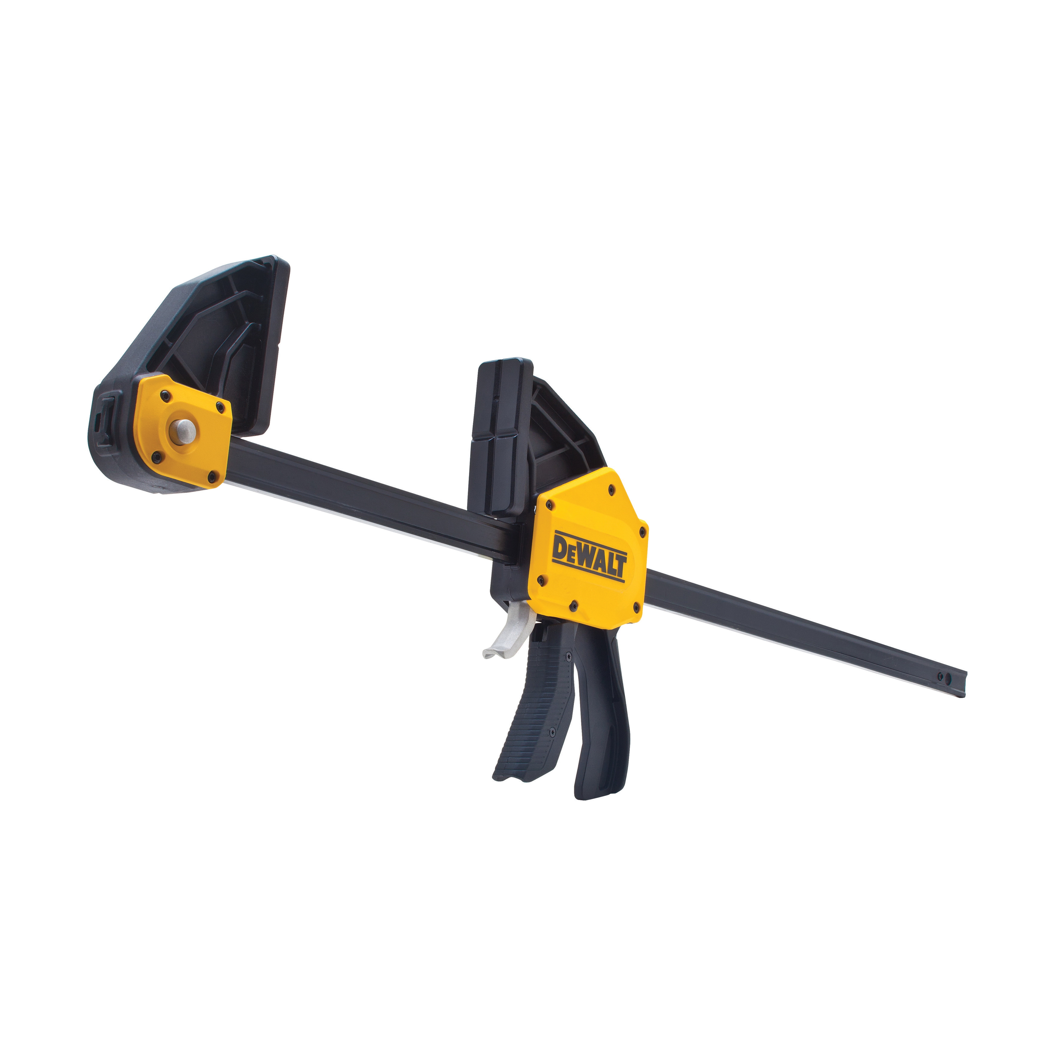 DeWALT® DWHT83186 1-Handed Extra Large Trigger Clamp, 24 in Clamping, 3-3/4 in D Throat, Steel Bar
