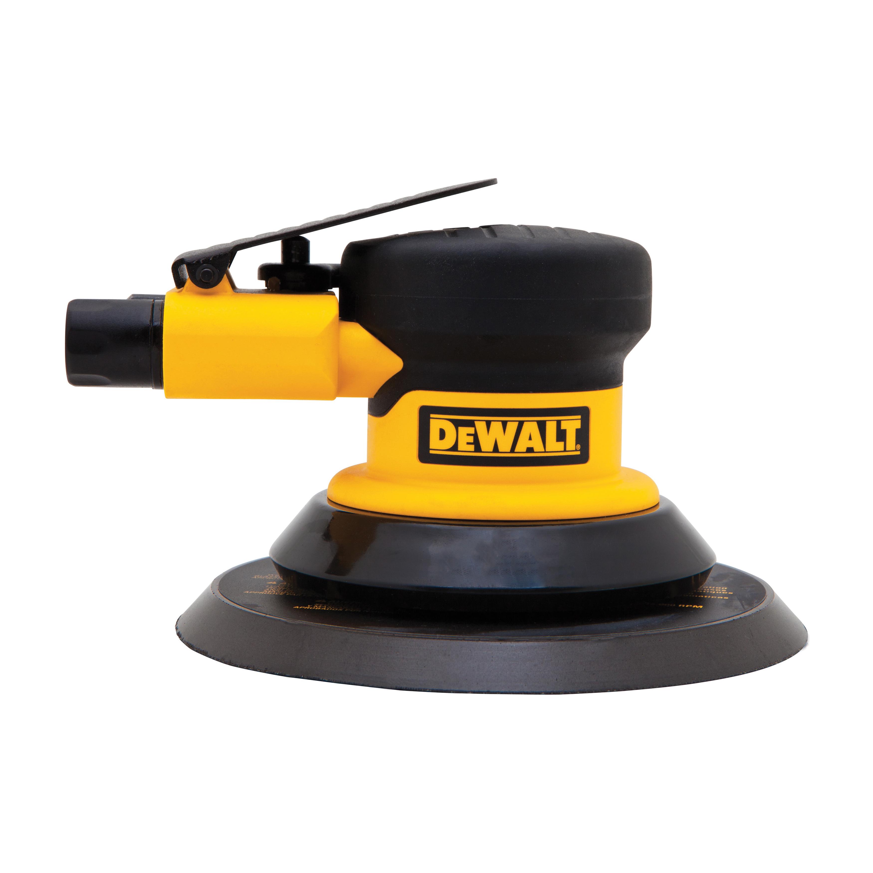 DeWALT® DWMT70781L Palm Pneumatic Disc Sander, 6 in Dia Disc, 3/32 in Arbor/Shank, 2.2 cfm Air Flow, 90 psi
