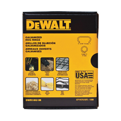 DeWALT® DWR16G1M Crowned Hog Ring, 16 ga, Round Point, For Use With P7DW Hog Ring Plier, Galvanized
