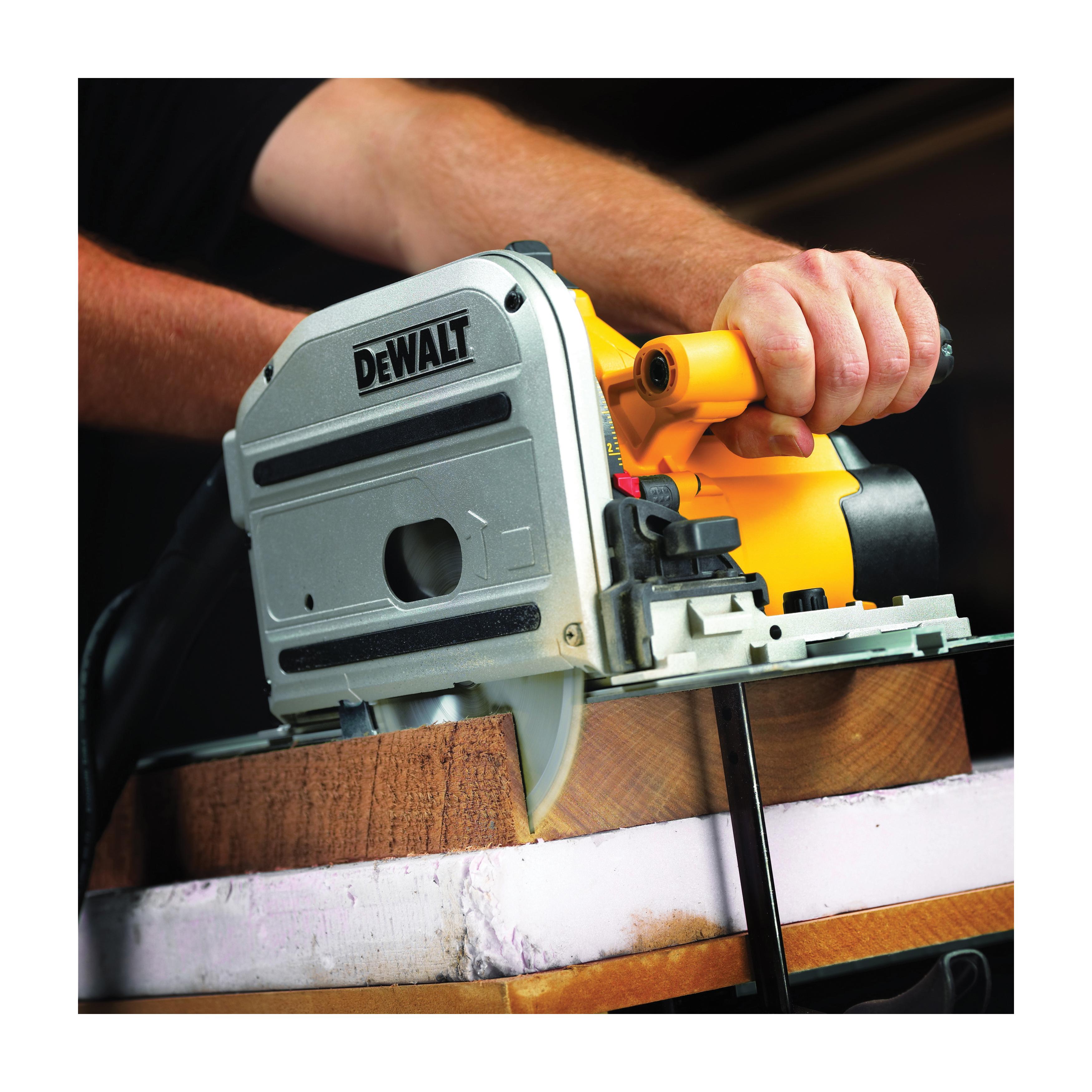 DeWALT® DWS520CK Heavy Duty Track Saw Kit, 6-1/2 in Blade, 1750 to 4000 rpm Speed, 12 A