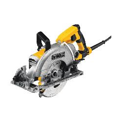 DeWALT® DWS535B Lightweight Worm Drive Circular Saw, 7-1/4 in Blade, 5/8 in Arbor/Shank, 1-7/8 in at 45 deg, 2-7/16 in at 90 deg Cutting, Left Blade Side