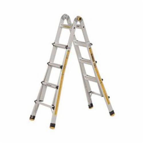 DeWALT® by Louisville® DXL2090-13 Multipurpose Ladder, 13 ft Ladder, A14.2, Type IA, Aluminum, 300 lb Load