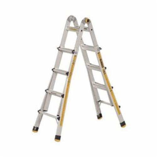 DeWALT® by Louisville® DXL2090-17 Multipurpose Ladder, 17 ft Ladder, A14.2, Type IA, Aluminum, 300 lb Load