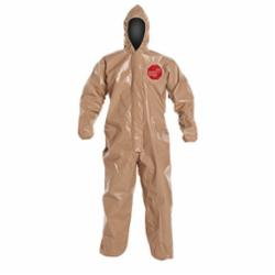 DuPont™ C3127TTN Standard Coverall With Attached Hood, Tan, 18 mil Tychem® 5000