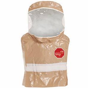 DuPont™ C3651TTN00000600 Disposable Hood With 20 mil Standard PVC Visor, Universal, Tan, 30-3/4 in L, 18 mil Tychem® CPF 3, 4.4 oz/sq-yd Fabric Weight, Full Face/Hook and Loop Waist Closure