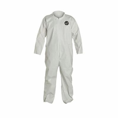 DuPont™ NG120SWH2X002500 Laydown Collar Disposable Coverall With Open Wrist and Ankle, 2XL, White, 10 mil ProShield® 60, 44-1/4 to 47-3/4 in Chest, 28-3/4 in L Inseam