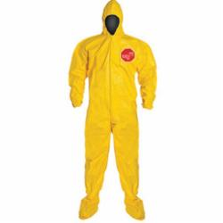 DuPont™ QC122BYL Standard Coverall With Attached Hood and Socks, Yellow, 10 mil Tychem® 2000